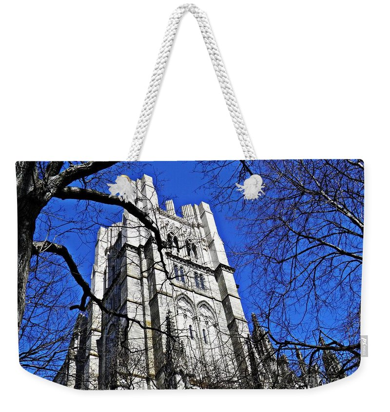 Church Weekender Tote Bag featuring the photograph Cathedral by Sarah Loft