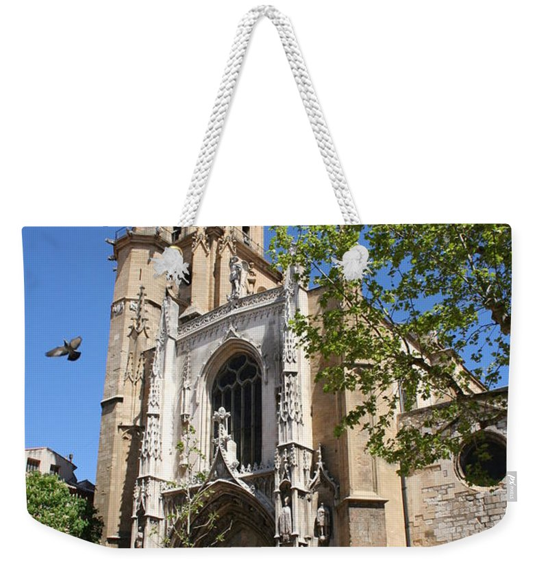 Cathedral Weekender Tote Bag featuring the photograph Cathedral St Sauveur - Aix En Provence by Christiane Schulze Art And Photography