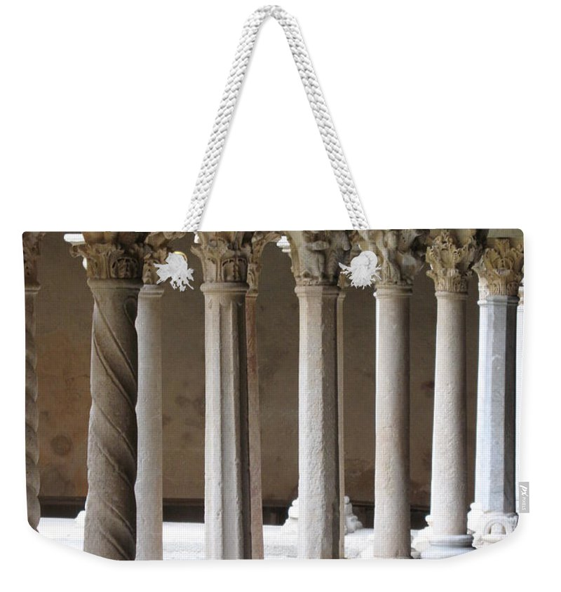 Croos Weekender Tote Bag featuring the photograph Cathedral St Sauveur - Croos-coat by Christiane Schulze Art And Photography