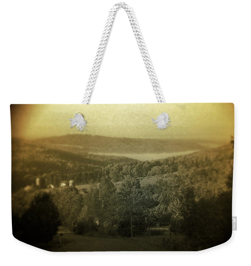 Catskills Weekender Tote Bag featuring the photograph Catskill Mountains New York Barn-shandelee - Featured In Comfortable Art And All About Ny Groups by Ericamaxine Price