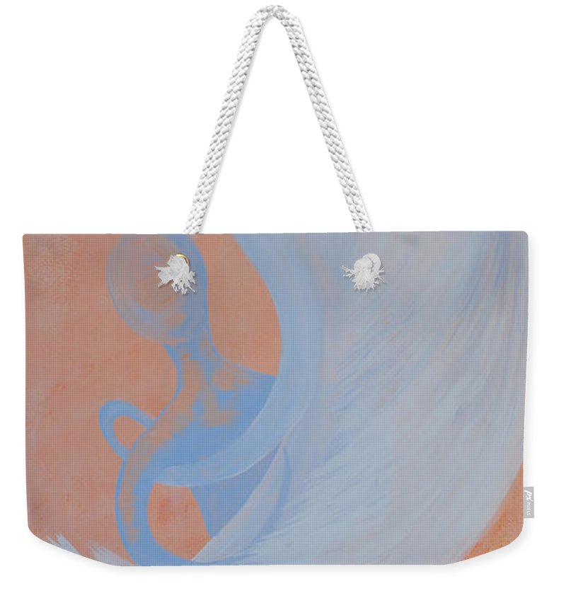 Caught Weekender Tote Bag featuring the painting Caught by Catt Kyriacou
