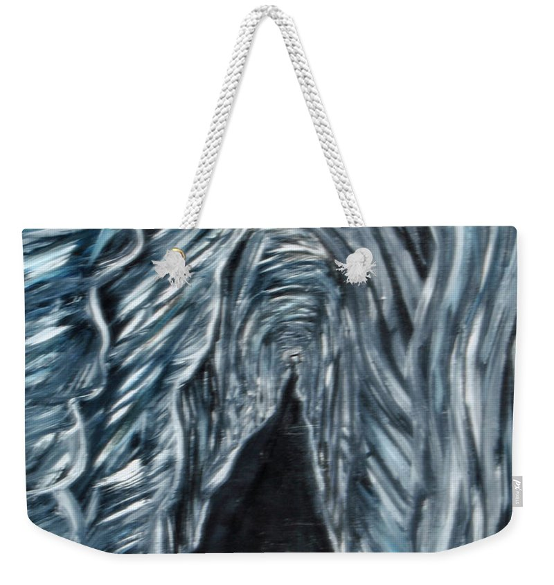 Weekender Tote Bag featuring the painting Cave 2 by Suzanne Surber