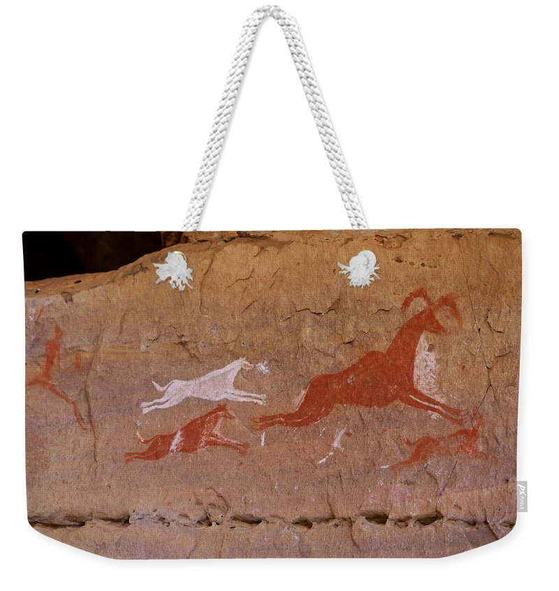 Africa Weekender Tote Bag featuring the photograph Cave Art by Ivan Slosar