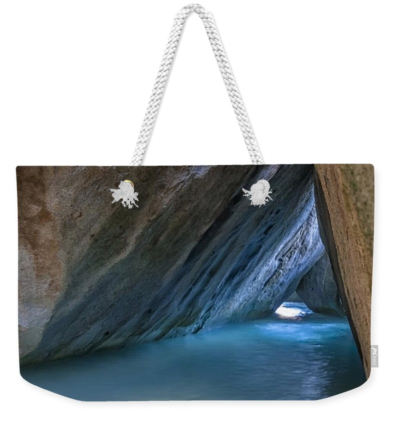 3scape Photos Weekender Tote Bag featuring the photograph Cave At The Baths by Adam Romanowicz