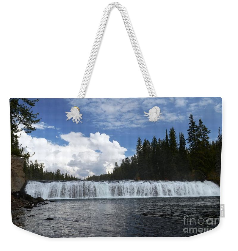 Cave Falls Weekender Tote Bag featuring the photograph Cave Falls by Deanna Cagle