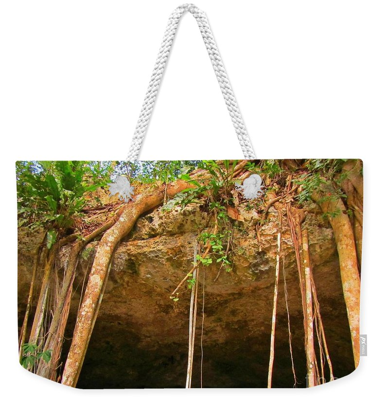 Cave Opening Weekender Tote Bag featuring the photograph Cave Opening by John Malone