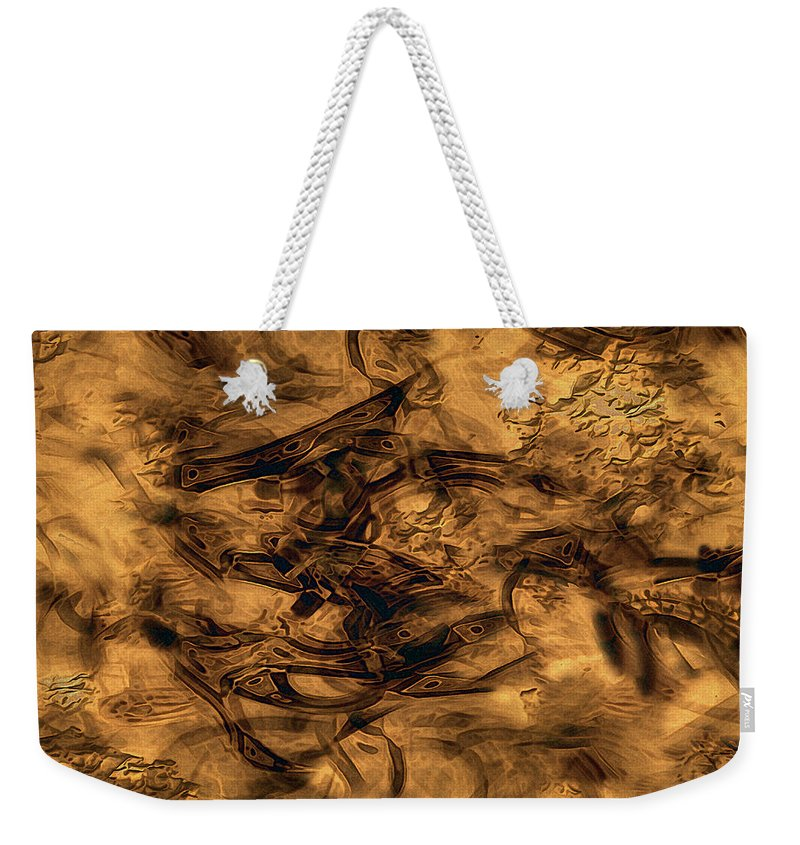 Abstract Weekender Tote Bag featuring the painting Cave Painting by RC DeWinter