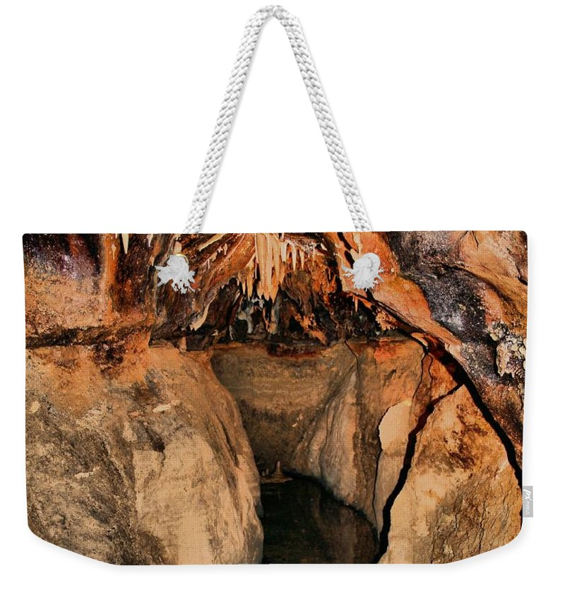 Caverns Weekender Tote Bag featuring the photograph Cavern Path by Dan Sproul