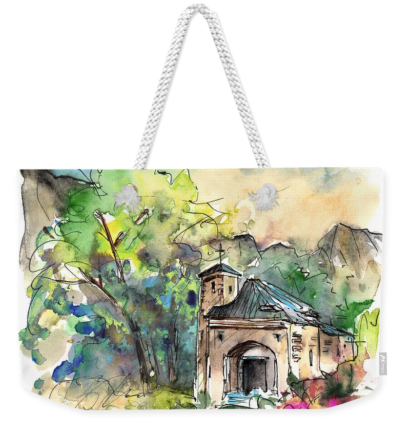 Travel Weekender Tote Bag featuring the painting Cazorla 07 by Miki De Goodaboom