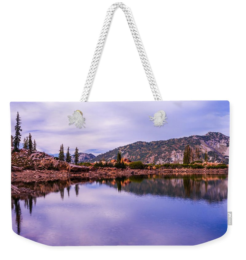 Nature Weekender Tote Bag featuring the photograph Cecret Reflection by Chad Dutson