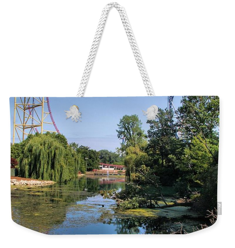 Cedar Point Weekender Tote Bag featuring the photograph Cedar Point Ohio by Dan Sproul