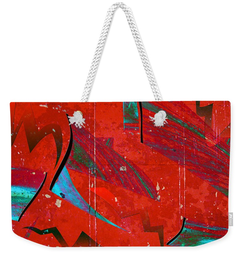 Abstract Weekender Tote Bag featuring the photograph Celebrate by Linda Dunn