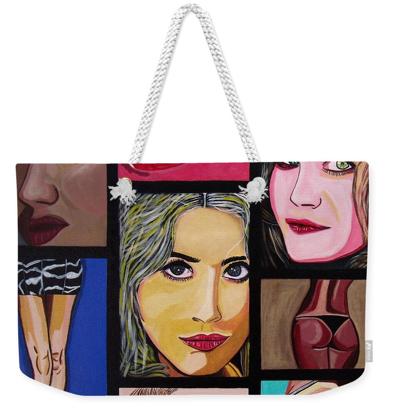Celebrity Weekender Tote Bag featuring the painting Celebrity by Sandra Marie Adams