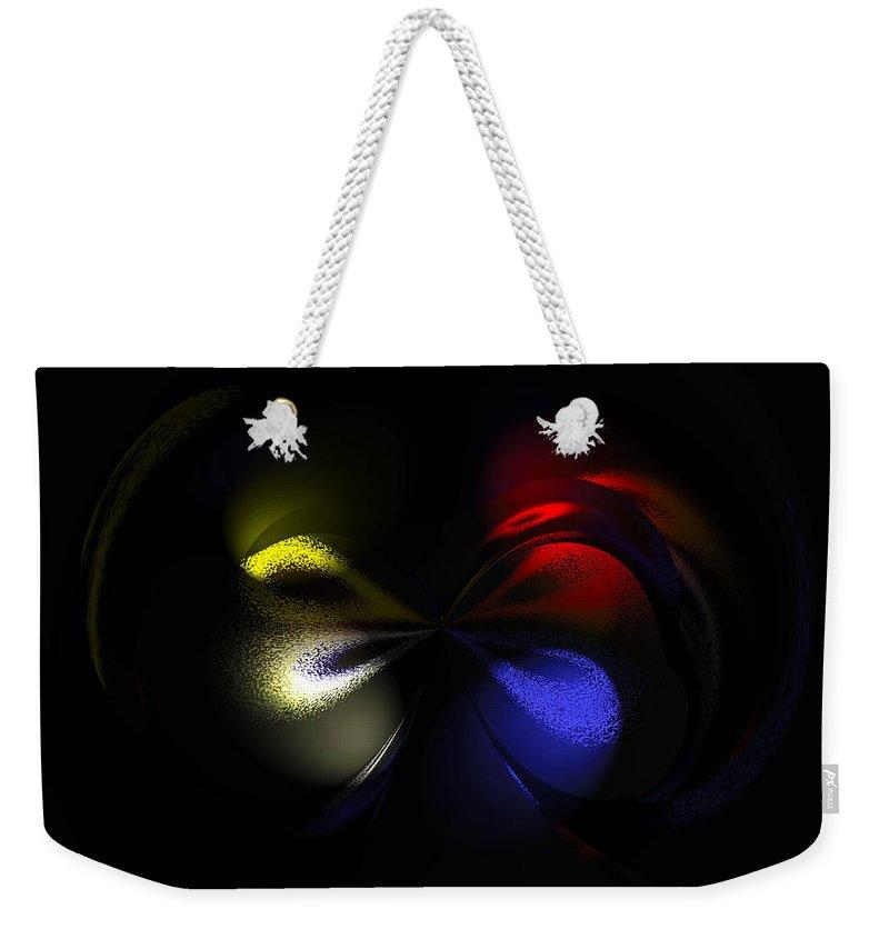 Modern Abstract Weekender Tote Bag featuring the painting Celestial Dance Digital Art by Georgeta Blanaru