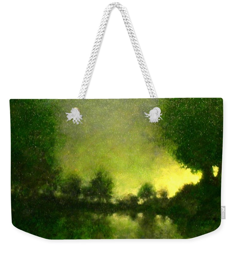 Painting Weekender Tote Bag featuring the painting Celestial Place #4 by Jim Gola