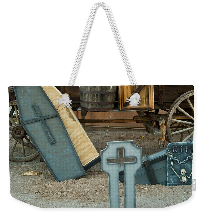 Cemetery Weekender Tote Bag featuring the photograph Cemetery Scene 1 by Douglas Barnett