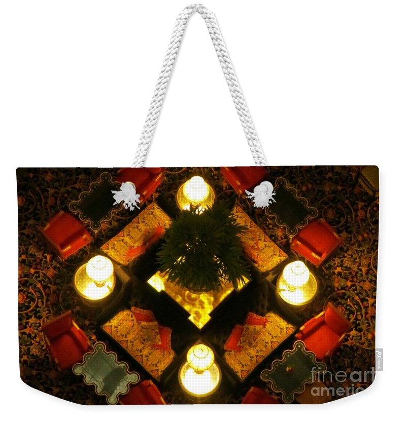 Atrium Art Prints Weekender Tote Bag featuring the photograph Centre Of The Brown Palace Atrium by John Malone