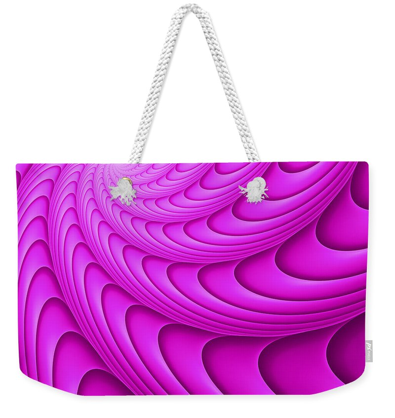 Swirl Weekender Tote Bag featuring the digital art Centric-102-a by RochVanh