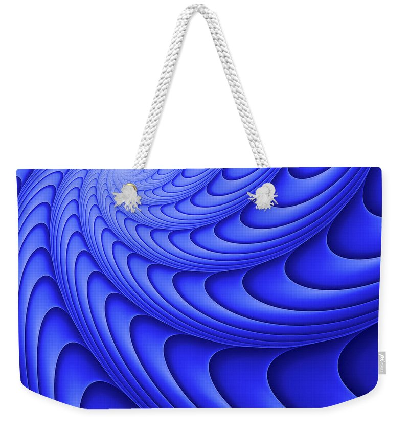 Concentric Line Weekender Tote Bag featuring the digital art Centric-102-c by RochVanh
