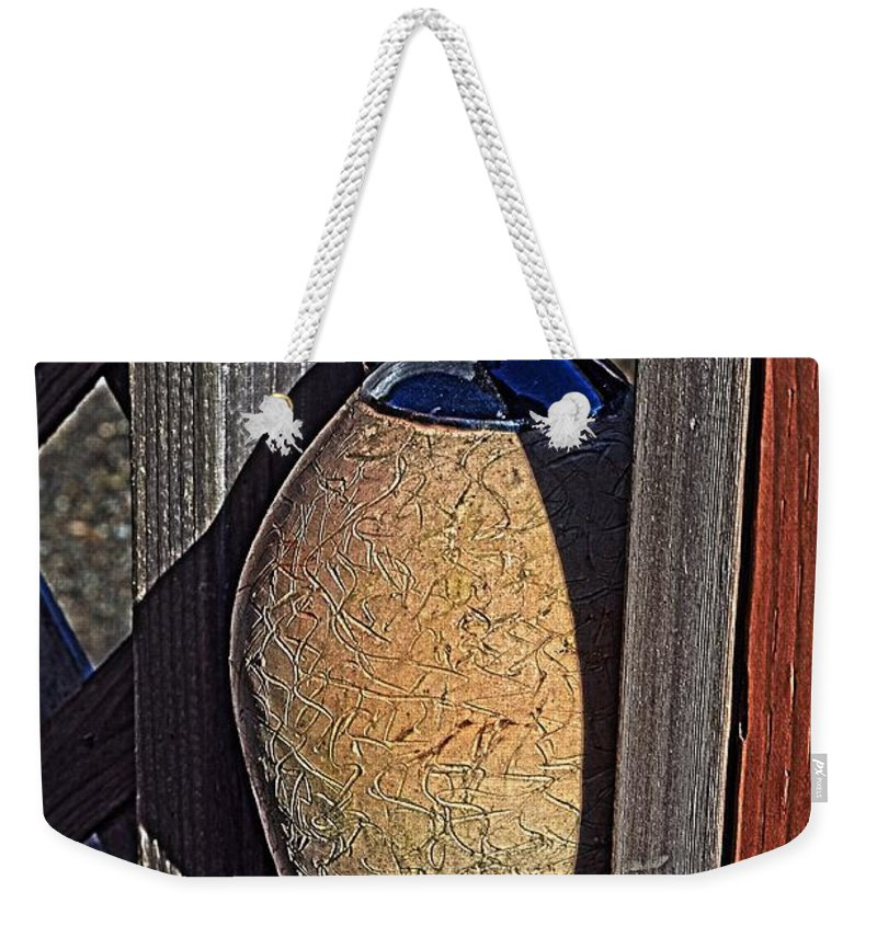 Ceramic Weekender Tote Bag featuring the photograph Ceramic Jug by Cathy Mahnke