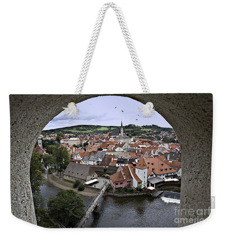 Cesky Krumlov Weekender Tote Bag featuring the photograph Cesky Krumlov by Madeline Ellis