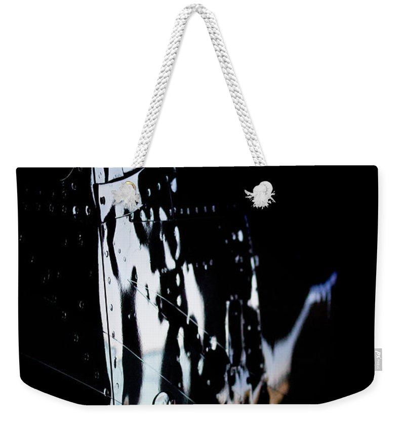 Cessna Weekender Tote Bag featuring the photograph Cessna Reflection by Paul Job