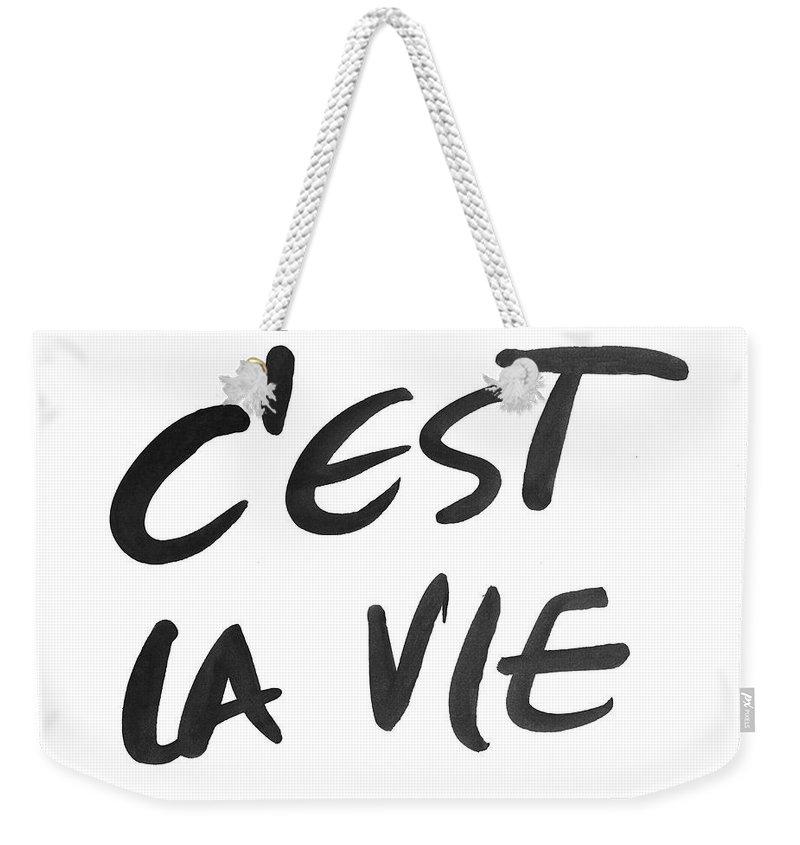 C'est Weekender Tote Bag featuring the mixed media C'est La Vie by South Social Studio