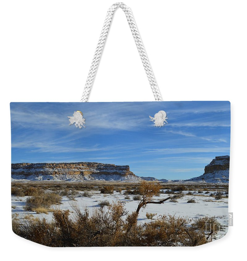 Butte Weekender Tote Bag featuring the photograph Chaco Greeting by Meandering Photography