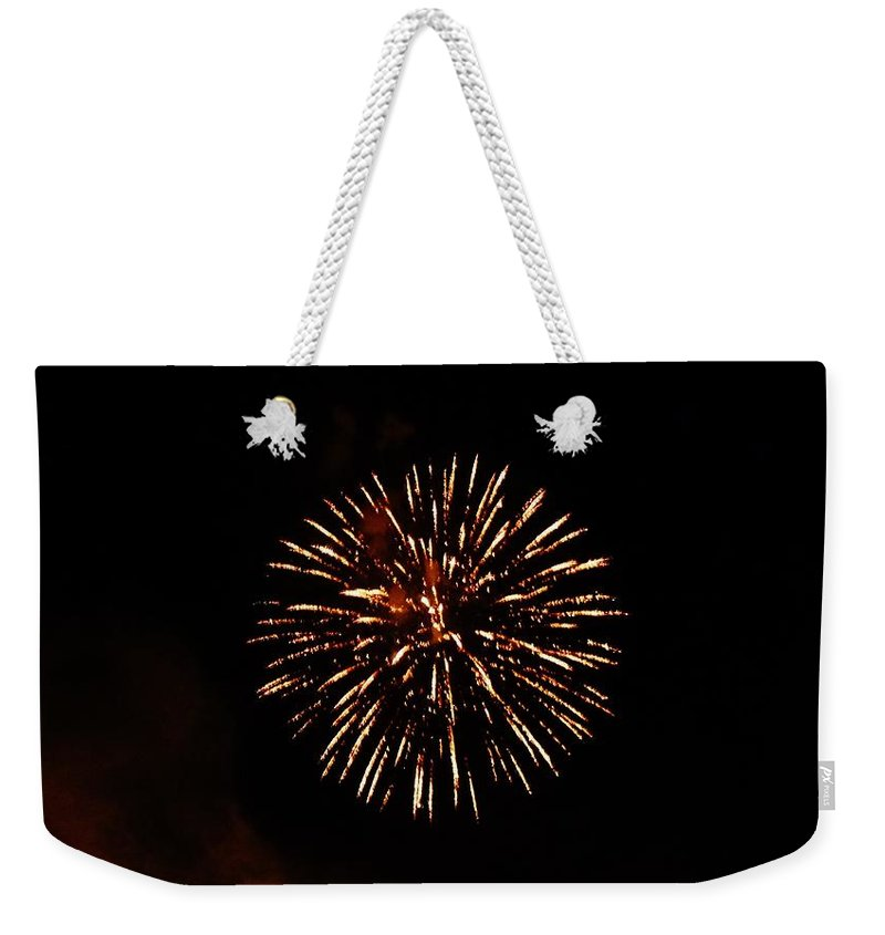 Color Weekender Tote Bag featuring the photograph Champagne by Amar Sheow
