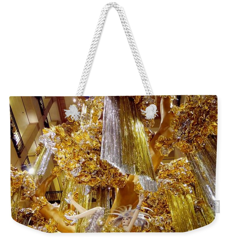 Mannequins Weekender Tote Bag featuring the photograph Champagne Dreams by Ed Weidman