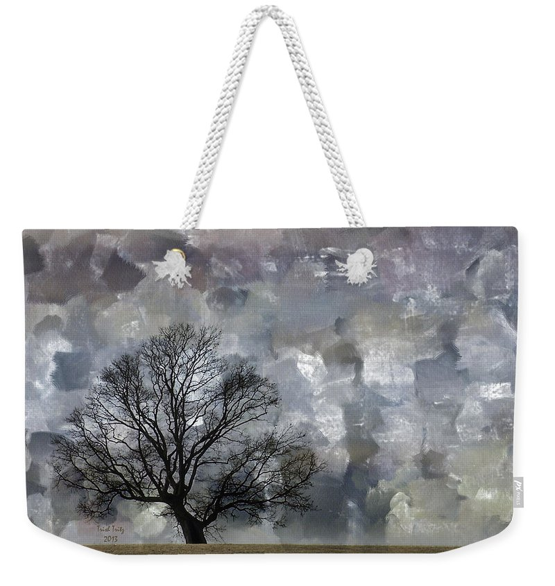 Tree Weekender Tote Bag featuring the mixed media Change Is Gonna Come by Trish Tritz