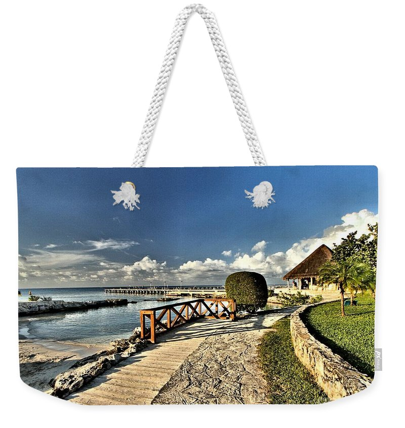 Chankanaab Weekender Tote Bag featuring the photograph Chankanaab Walkway by Adam Jewell