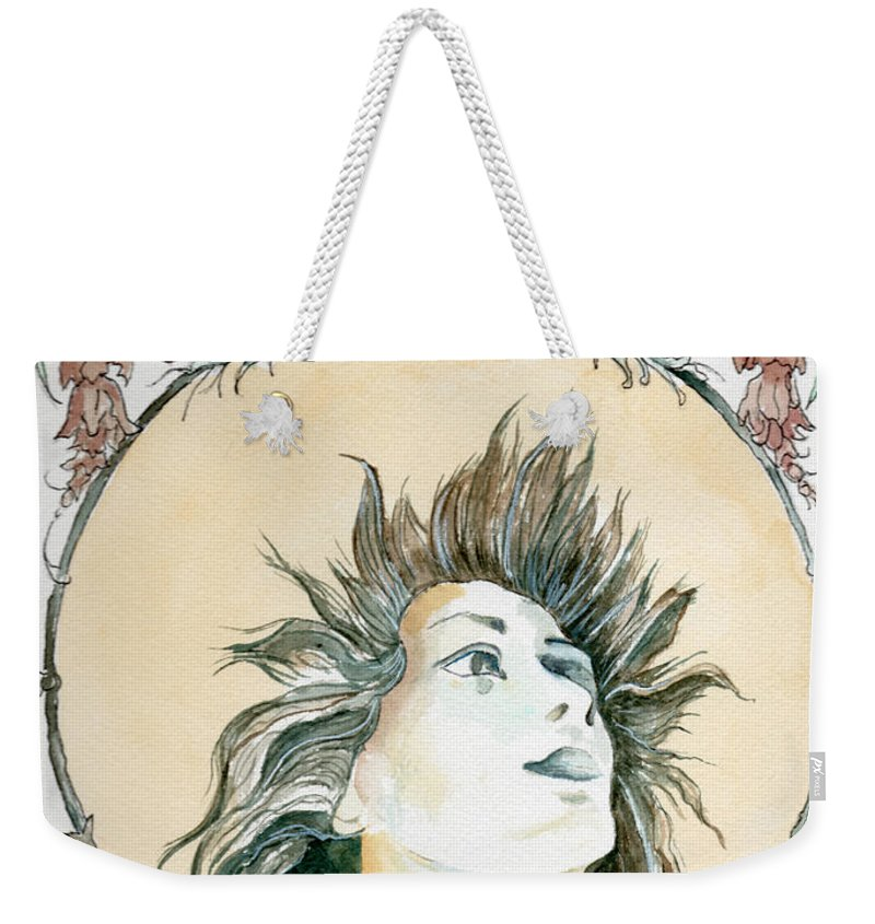 Watercolor Weekender Tote Bag featuring the painting Chanson D'amour by Brenda Owen