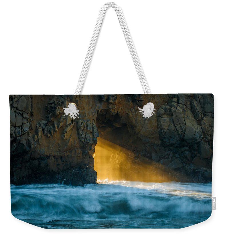 Chaos Weekender Tote Bag featuring the photograph Chaos - Pfeiffer Beach by George Buxbaum