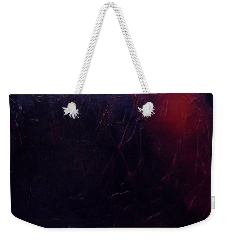 Abstract Weekender Tote Bag featuring the painting Chaos by Sergey Bezhinets