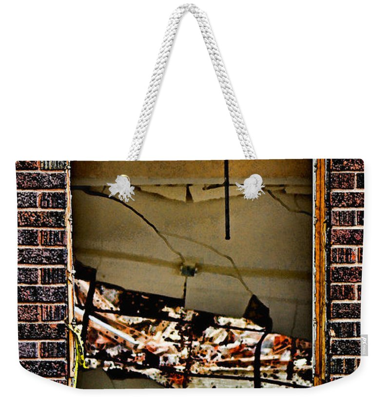 School.classroom Weekender Tote Bag featuring the photograph Chaotic Classroom by Sylvia Thornton