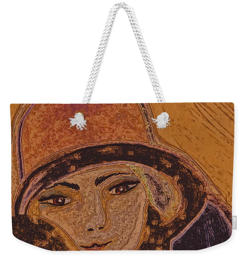 First Star Art Weekender Tote Bag featuring the painting Chapeau By Jrr by First Star Art