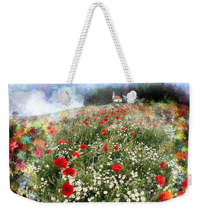 Digital Art Weekender Tote Bag featuring the photograph Chapel Of Colors by Edmund Nagele