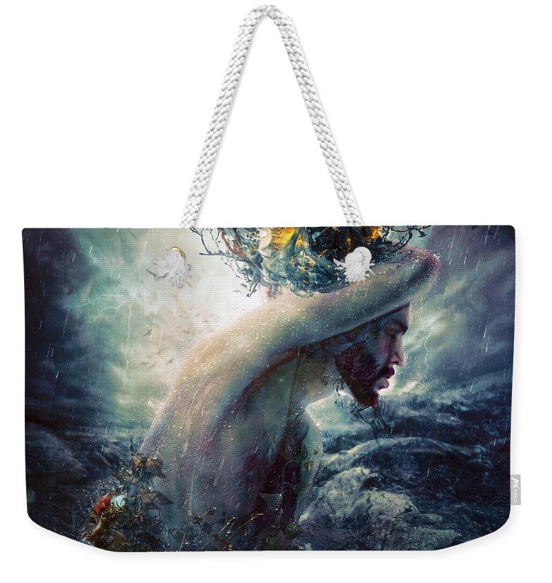 Charade Weekender Tote Bag featuring the digital art Charade by Mario Sanchez Nevado