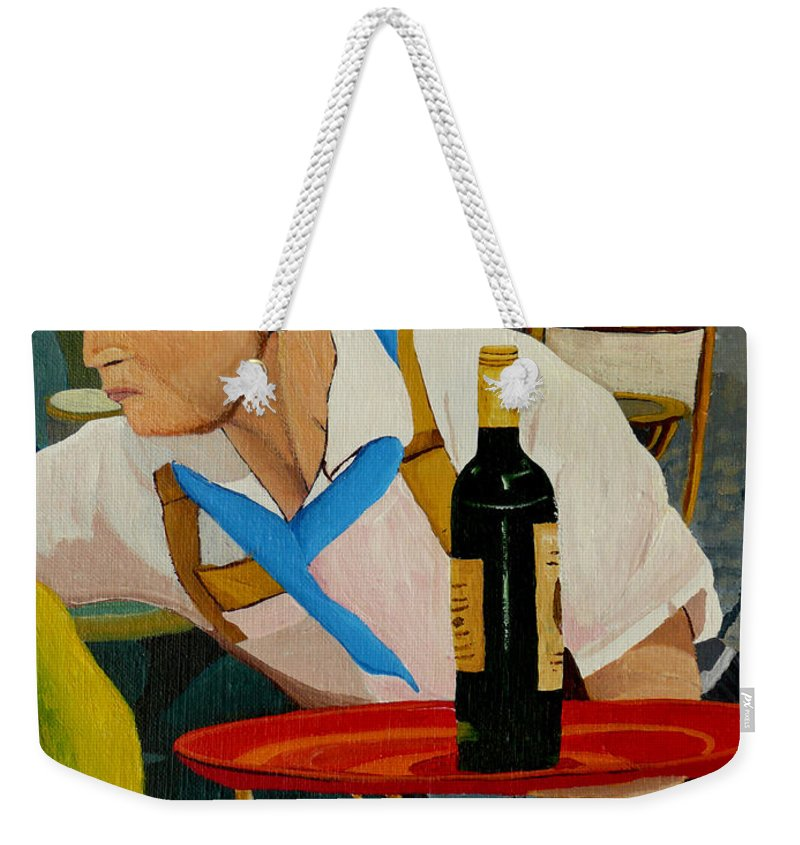 France Weekender Tote Bag featuring the painting Chardonnay by Anthony Dunphy