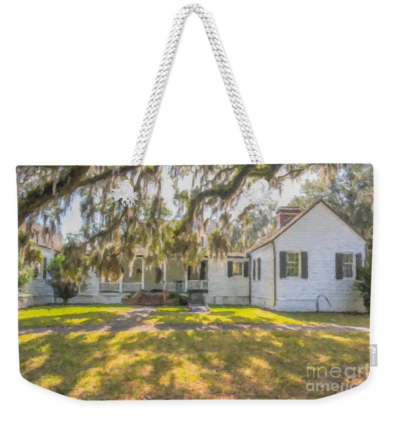 Charles Pinckney Weekender Tote Bag featuring the photograph Charles Pickney Plantation by Dale Powell
