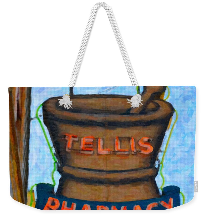 Pharmacy Weekender Tote Bag featuring the photograph Charleston Pharmacy by Dale Powell