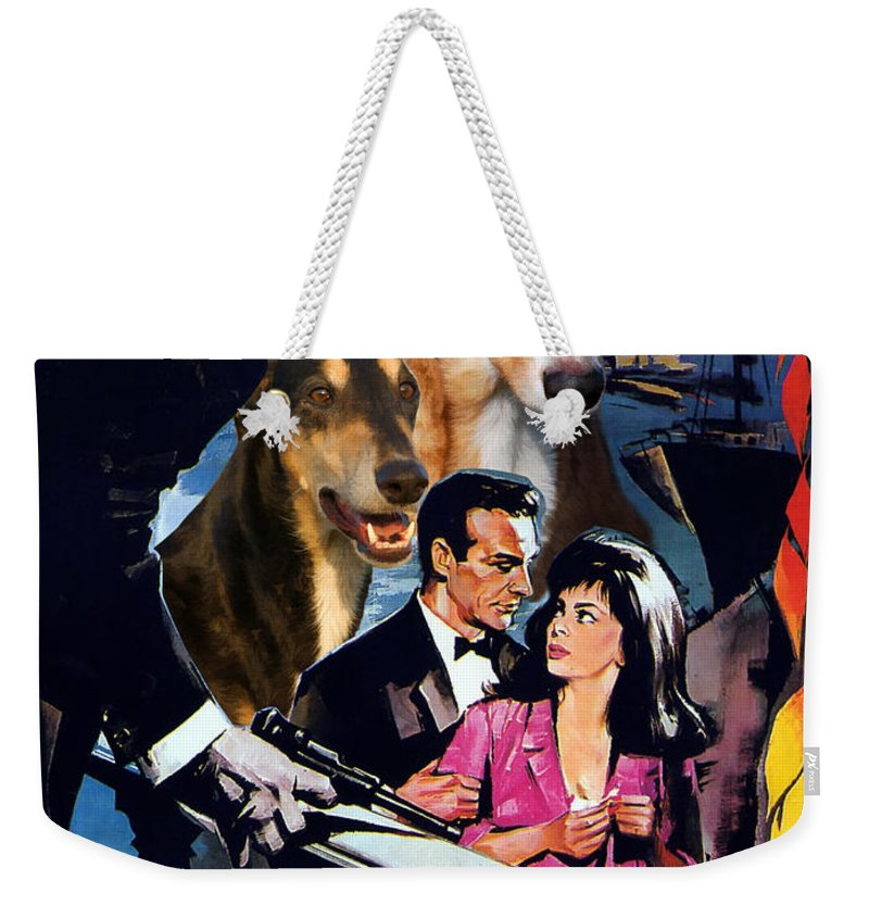 Dog Weekender Tote Bag featuring the painting Chart Polski Art - Woman Of Straw Movie Poster by Sandra Sij