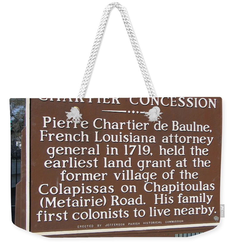 Chartier Concession Weekender Tote Bag featuring the photograph Chartier Concession by Jason O Watson