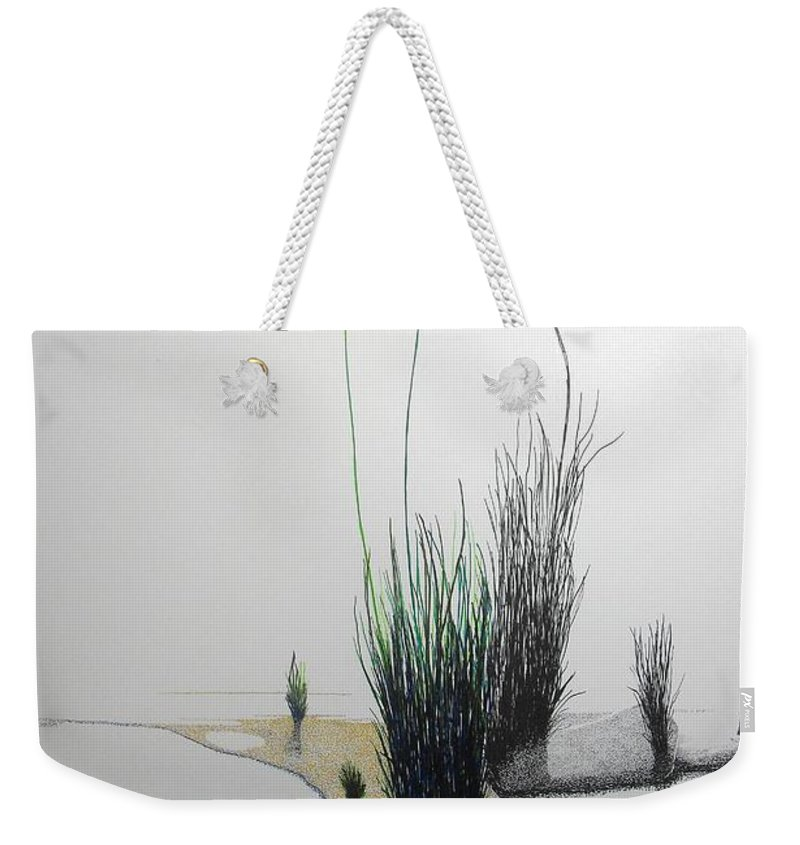 Landscape Weekender Tote Bag featuring the painting Chasm by A Robert Malcom