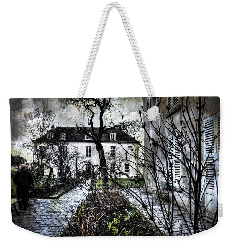 Evie Weekender Tote Bag featuring the digital art Chat Noir Gallery Paris France by Evie Carrier