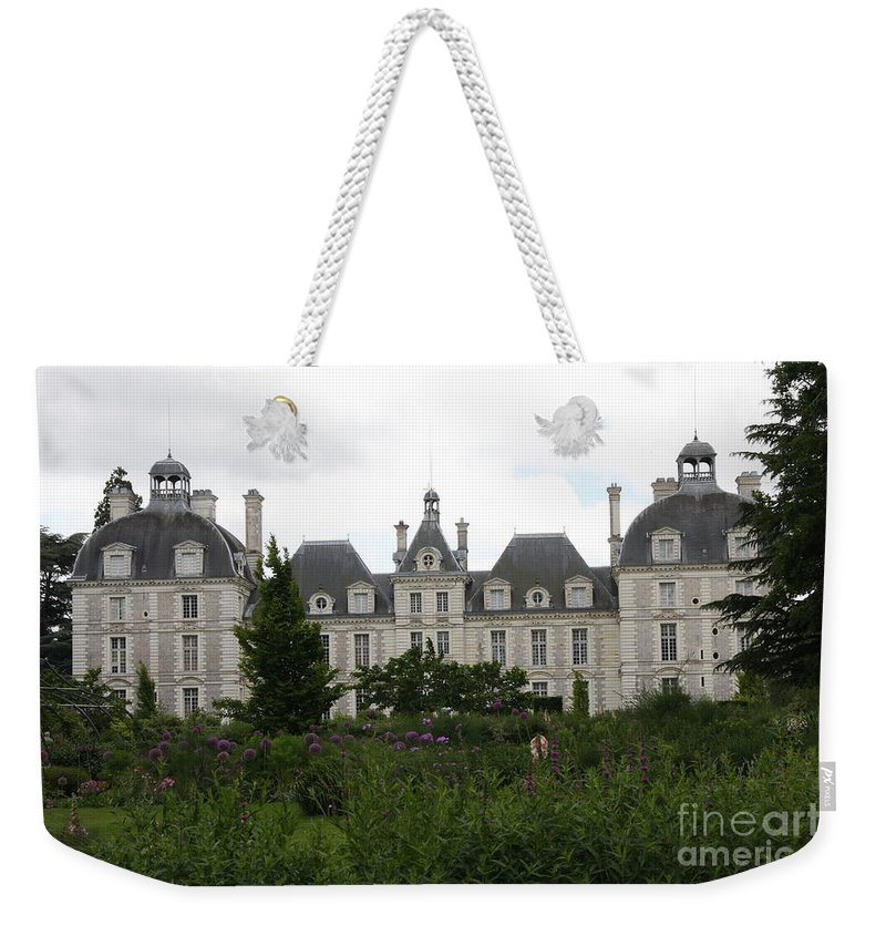 Palace Weekender Tote Bag featuring the photograph Chateau Cheverney by Christiane Schulze Art And Photography