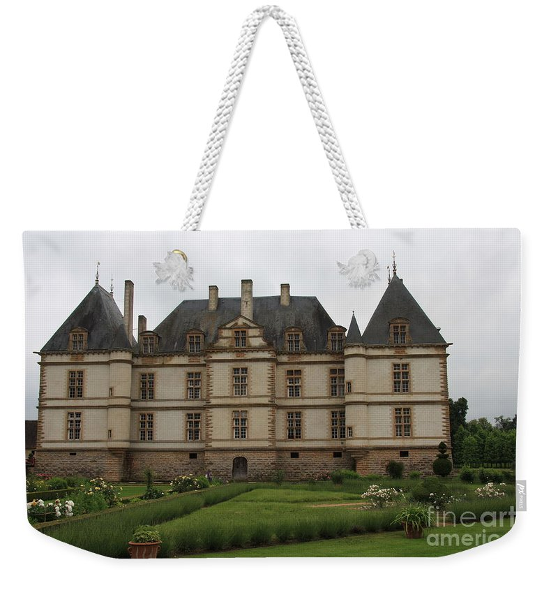 Palace Weekender Tote Bag featuring the photograph Chateau De Cormatin And Garden - Burgundy by Christiane Schulze Art And Photography