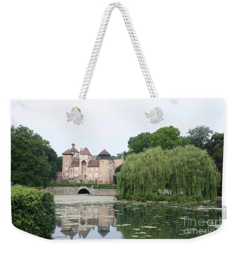 Palace Weekender Tote Bag featuring the photograph Chateau De Sercy - Burgundy by Christiane Schulze Art And Photography