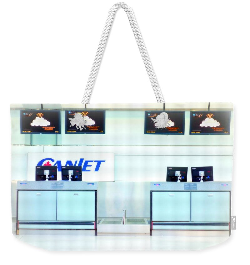 Airport Weekender Tote Bag featuring the photograph Checking In by Valentino Visentini